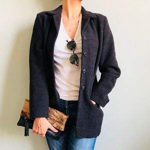J. Crew 100% wool lightly lined coat